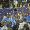 400.000 de euro a fost suma pe care Dinamo a primit-o în acest sezon din partea Ligii pentru câștigarea trofeului // Foto Raed Krishan