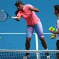 Serena Williams și Patrick Mouratoglou în timpul unui antrenament la Australian Open 2015 // FOTO Guliver/GettyImages