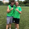 Liam McIntyre (în stânga) / FOTO: cjsport.ro