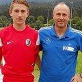 Ehmann, în stânga, pe vremea când evolua pentru juniorii lui Freiburg // FOTO: schwarzwaelder-bote.de
