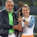 Ion Țiriac și Simona Halep după finala din 2017 // Foto: Guliver/GettyImages