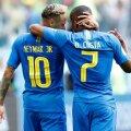 Neymar și Douglas Costa, foto: reuters