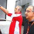 Sergio Marchionne, în plan apropiat, alături de Maurizio Arrivabene, actualul șef de la Ferrari //  FOTO: Guliver/ Getty Images