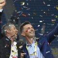 În urmă cu numai două săptămâni, Mara (stânga) sărbătoarea câștigarea Supercupei României FOTO Cristi Preda