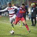 Armando Cooper într-un meci cu FCSB din decembrie 2013, pe când juca la Oțelul Foto: Cristi Preda