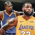 Kevin Durant (Golden State) și LeBron James (LA Lakers)