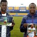 Moussa Diakite, în stânga