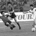 Imagine cu Tudorel Stoica, Belodedici și Scifo (în alb), de la celebrul meci Steaua - Anderlecht 3-0, din 16 aprilie 1986