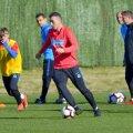 Ioan Hora la primul antrenament cu FCSB // Foto: Cristi Preda