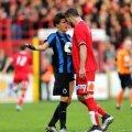 Athanasios Papazoglou și faza pentru care a fost eliminat în meciul Kortrijk - FC Bruges 1-4 din 2015 // FOTO: Isosport
