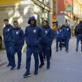 Jucătorii României la plimbare prin Stockholm // Foto: Cristi Preda