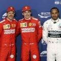 Charles Leclerc, alături de Sebastian Vettel și Lewis Hamilton // FOTO: Reuters