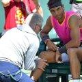 Rafael Nadal s-a accidentat la genunchiul drept la Indian Wells // FOTO: Reuters