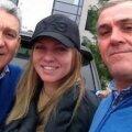 Simona Halep, alături de tatăl și de unchiul ei, Costică Halep