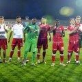Jucătorii lui Dinamo sărbătoresc victoria cu FC Voluntari, 2-1 // FOTO: Cristi Preda