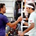 Dominic Thiem - Roger Federer // FOTO: Reuters