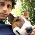 Diego Fabbrini și feblețea sa, bull-terrier-ul Sean