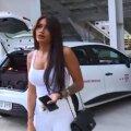 Andrada, tânăra cu care a plecat Dan Alexa // FOTO: TV Telekom Sport