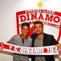 Diogo Salomao și Adrian Mutu când jucătorul a semant cu Dinamo