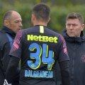 Andronache (dreapta) a ajuns la FCSB adus de Teja FOTO Ștefan Constantin