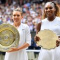 Simona Halep și Serena Williams, după finala de la Wimbledon // foto: Raed Krishan (Gazeta Sporturilor)