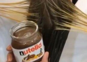 VIDEO S-a spălat pe cap cu Nutella, iar rezultatul e spectaculos!