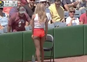FOTO&VIDEO Ce eroare! Cum a gafat rușinos o fată de mingi: tot stadionul a început să râdă!