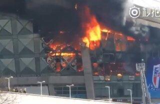 A luat foc stadionul! Imagini dramatice din această dimineață
