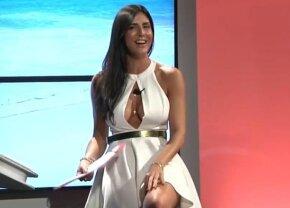 VIDEO Ups: chiar a arătat prea mult! O prezentatoare și-a ridicat rochia în direct
