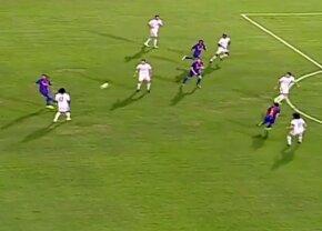 VIDEO Geniu și la 37 de ani! Ronaldinho a făcut spectacol în meciul legendelor » No look pass de senzație în Clasicul legendelor