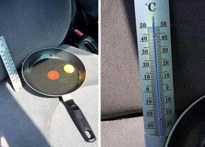 FOTO Experiment: ce se întâmplă dacă lași un ou în mașină pe o zi toridă