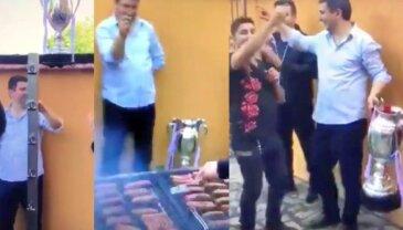 VIDEO Mici și manele fără număr! » Unde a ajuns trofeul donat de Țiriac, la 24 de ore după ce Voluntari a câștigat finala Cupei