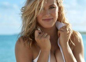 """FOTO Imagini incendiare cu Eugenie Bouchard! A apărut într-o pereche de bikini """"invizibili"""" pe o plajă din Spania"""