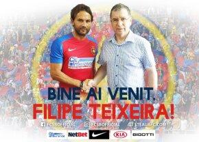 FOTO Primele imagini cu Teixeira în tricoul lui FCSB! Ce număr va purta + declarațiile portughezului
