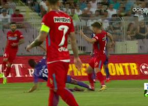 FOTO Eroare a lui Andrei Chivulete în meciul ACS Poli - FCSB! A iertat un jucător al lui Poli de eliminare în minutul 16