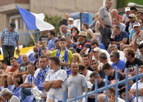 """Corespondență de la Severin » Atentie, """"diavoli""""! Fanii Craiovei au inceput razboiul: ce mesaj au lasat pe zidul arenei din Severin"""
