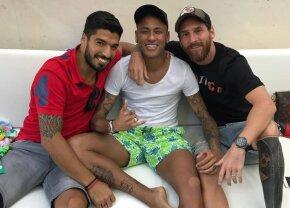 """FOTO Microbiștilor nu le-a venit să creadă când au văzut mesajul lui Messi de pe Instagram: """"Neymar s-a întors!"""""""