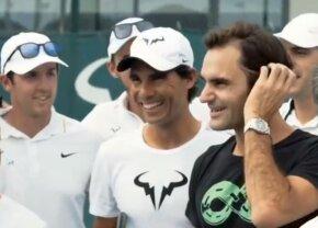 """VIDEO Schimb savuros de replici între Nadal și Federer pe Facebook: """"Dacă o să se întâmple asta, nu o să te mai chem niciodată aici!"""""""