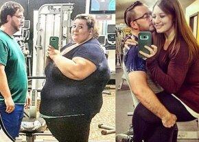 FOTO Să vezi și să nu crezi: doi îndrăgostiți au slăbit împreună 181 kilograme!