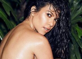 Fotografie demențială! Kourtney Kardashian a pozat complet goală!
