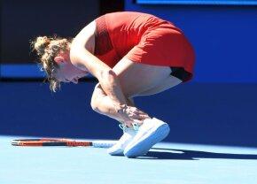 Imaginile durerii » Momentul care putea să încheie prematur aventura Simonei Halep la Australian Open