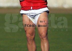 """FOTO Steliano a recidivat! Alte 13 tatuaje pe care și le-a făcut pe picioare: """"FCSB nu e Steaua"""" :D"""