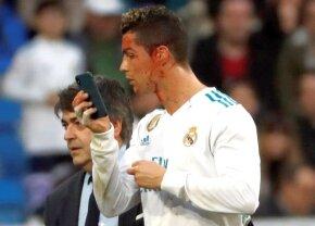 VIDEO+FOTO » Selfie plin de sânge în Real Madrid-Deportivo! Imagini horror cu Cristiano Ronaldo, care a cerut un telefon să vadă unde e tăiat la față
