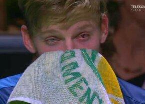 VIDEO Ce ghinion! Abandon în semifinale după o accidentare neobișnuită! Lovitura-horror primită de Goffin