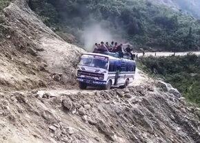 VIDEO Aşa ceva nu ai văzut niciodată! Iată cele mai periculoase drumuri din lume
