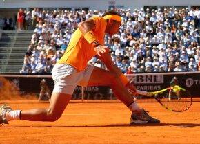VIDEO + FOTO Regele zgurii nu se dezminte » Rafa Nadal nu i-a dat nicio șansă lui Novak Djokovic și e în finala turneului de la Roma! Schimbul uluitor reușit de cei doi campioni