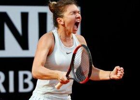 VIDEO + FOTO FA-BU-LOS! Simona Halep o învinge pe Maria Sharapova după un meci dramatic! Cu cine și când joacă finala de la Roma