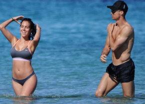 GALERIE FOTO Iubita lui Cristiano Ronaldo, apariţie de neuitat la plajă
