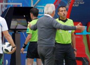FOTO Decizie ciudată luată la meciul Egipt - Uruguay! Camerele de luat vederi au surprins momentul