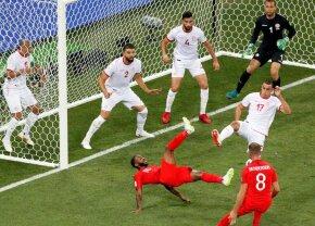 FOTO + VIDEO Un fost jucător din Liga 1 a fost eroul primei reprize din meciul Anglia - Tunisia » Vă mai aduceți aminte de el?